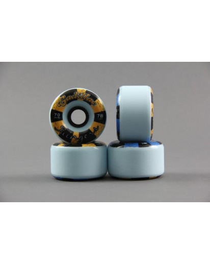 RUOTE CADILLAC SWINGERS 70MM/78A colore Blue