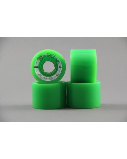 RUOTE CADILLAC WHITE WALLS 59MM/78A colore Green