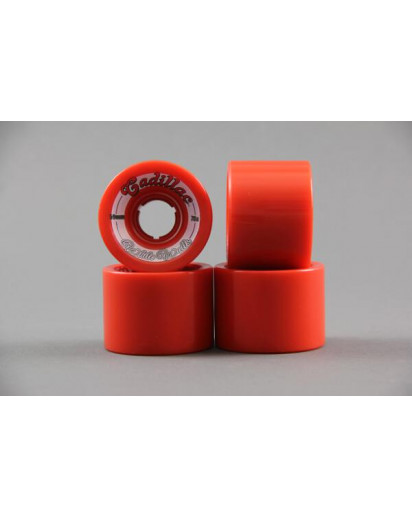 RUOTE CADILLAC WHITE WALLS 59MM/78A colore Red