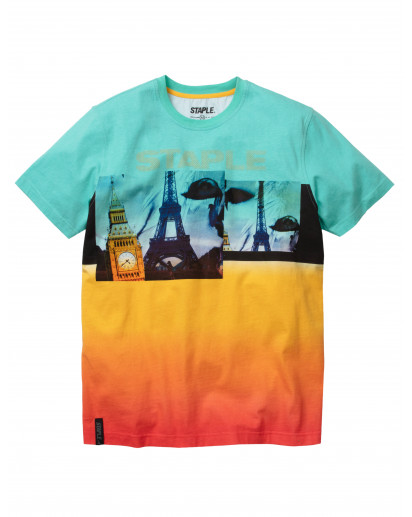 Staple Pigeon - World Collage Fade Tee